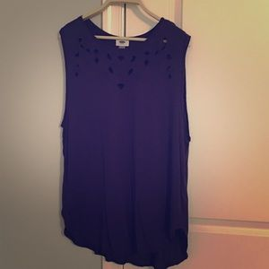 Navy tank with cutout detail